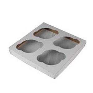 Cupcake-Insert-White-Kraft-Standard-4-Cup-7-in-x-4-in