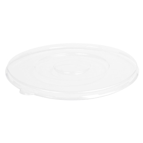 "Conserveware PETE Clear Flat Lid for Round Bowl - 24-40 oz - 8"" - 42RBFL"