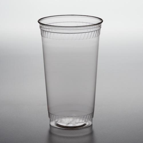 Compostable Custom Printed Plastic Cup Fabri-Kal Greenware GC24 24 oz