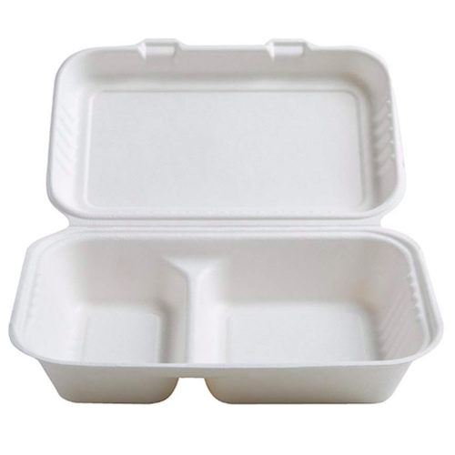 Conserveware-Compostable-Sugarcane-Hinged-Container-9-in-x-6-in-x-2.7-in-42RH96S2