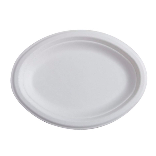 Conserveware-Compostable-Sugarcane-Oval-Plate-10.25-in-x-7.75-in-42OP107