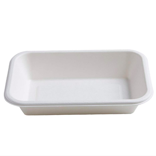 Conserveware-Compostable-Sugarcane-Rectangular-Bowl-12-oz-7-in-x-4.5-in-42RCB12