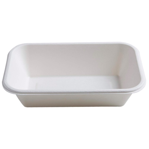Conserveware-Compostable-Sugarcane-Rectangular-Bowl-24-oz-8.5-in-x-5.5-in-42RCB24