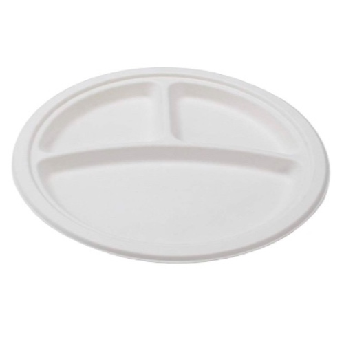 Conserveware-Compostable-Sugarcane-Round-3-Sectional-Plate-9-in-42RP09S3
