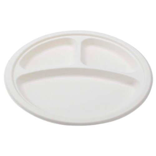 Conserveware-Compostable-Sugarcane-Round-3-Sectional-Plate-10-in-42RP10S3