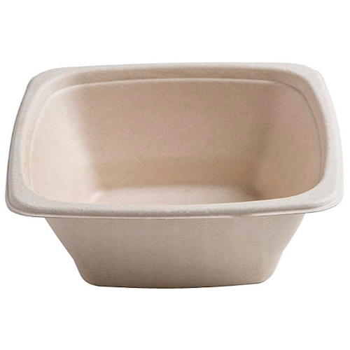 Conserveware Sugarcane Square Bowl - 24 oz - 7″ - 42SB24