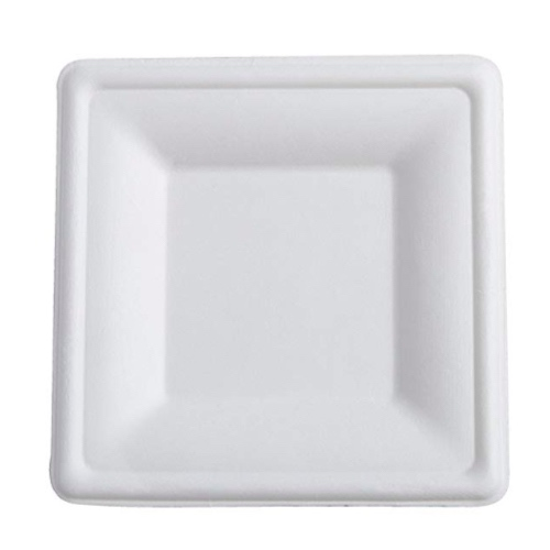Conserveware-Compostable-Sugarcane-Square-Plate-6-in-42SP06