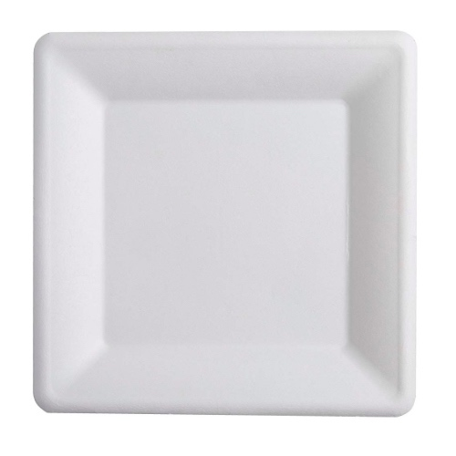 Conserveware-Compostable-Sugarcane-Square-Plate-10-in-42SP10