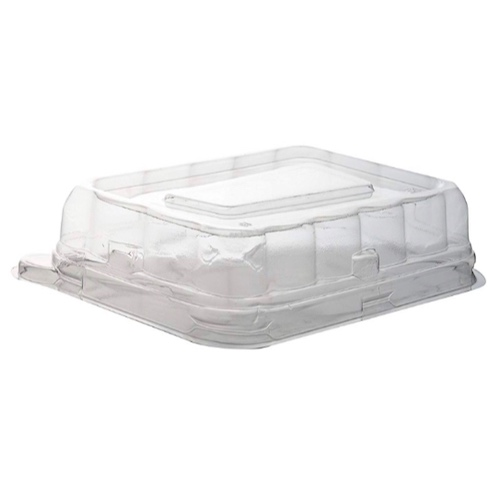 "Conserveware PETE Clear Dome Lid for Rectangular Bowl - 24-32 oz - 8.5"" x 5.5"" - 42RCL2432"