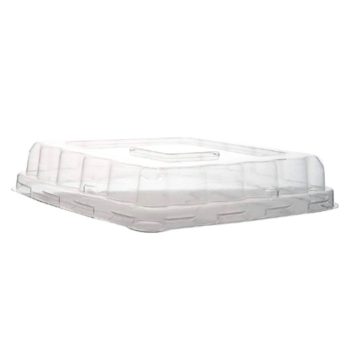 "Conserveware PETE Clear Dome Lid for Square Bowl - 16-40 oz - 7"" - 42SBL"