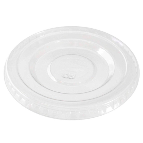 "Conserveware PETE Clear Flat Lid for Portion Cup - 2 oz - 2.5"" - 42PCL2"