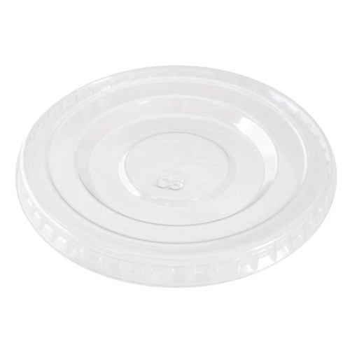 "Conserveware PETE Clear Flat Lid for Portion Cup - 5 oz - 3"" - 42PCL5"