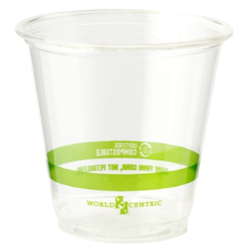 World Centric PLA Clear Cold Cup - 3 oz - CP-CS-3