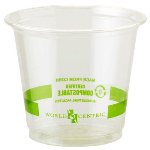 World Centric PLA Clear Cold Cup - 6 oz - CP-CS-6
