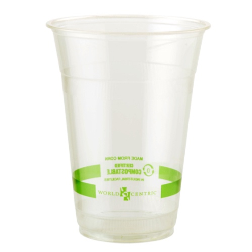 World Centric PLA Clear Cold Cup - 16 oz - CP-CS-16
