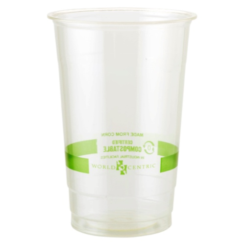 World Centric PLA Clear Cold Cup - 24 oz - CP-CS-24