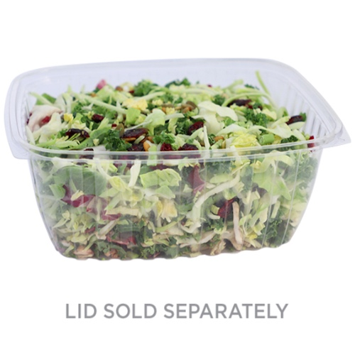World Centric PLA Clear Rectangular Deli Container - 64 oz - RD-CS-64