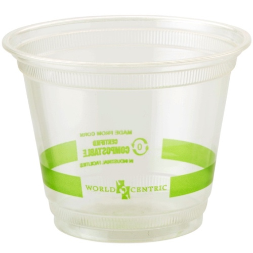 World Centric PLA Clear Squat Cold Cup - 9 oz - CP-CS-9Q