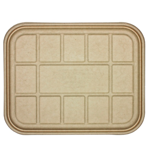 World Centric Fiber Flat Lid for Catering Pan Tray - 104-120 oz - CAL-SC-104