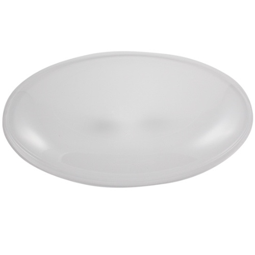 World Centric PLA Clear Flat Lid for Oval Bowl - 24-32 oz - BVL-CS-24
