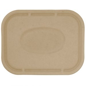 World Centric Fiber Flat Lid for Tray - 10