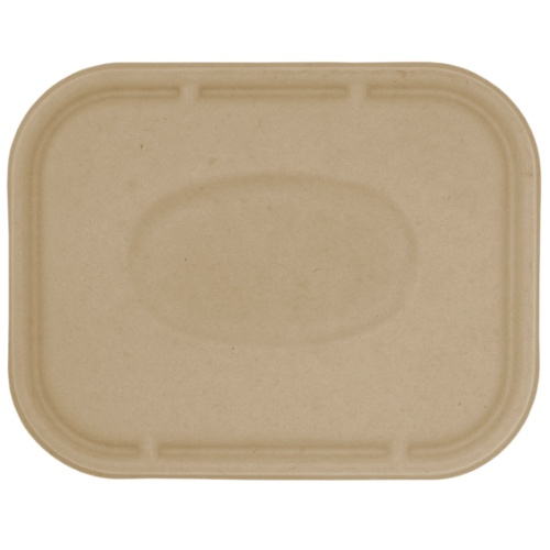 "World Centric Fiber Flat Lid for Tray - 10"" x 7.5"" - TRL-SC-10-LF"