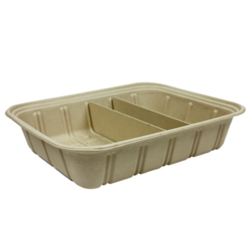 World Centric Fiber PLA Lined Catering Pan Adjustable Tray - 120 oz - CA-SC-120V