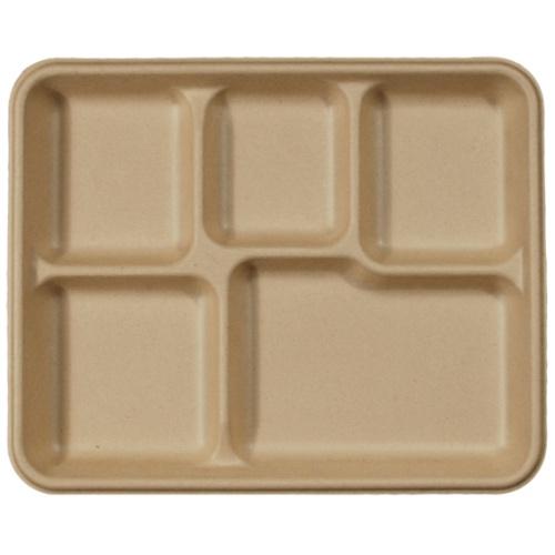 World-Centric-Fiber-Tray-5-Compartment-20-oz-10.5-in-x-8.5-in-x-1-in-TR-SC-UF