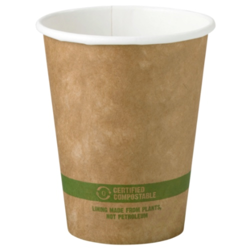 World Centric Paper Kraft Hot Cup - 8 oz - CU-PA-8-K