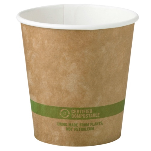 World Centric Paper Kraft Hot Cup - 10 oz - CU-PA-10-K
