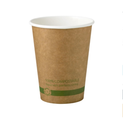 World Centric Paper Kraft Hot Cup - 12 oz - CU-PA-12-K