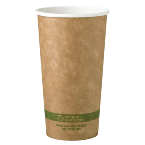 World Centric Paper Kraft Hot Cup - 20 oz - CU-PA-20-K