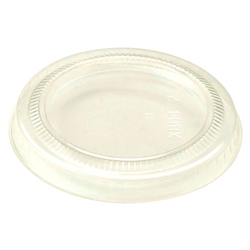 World Centric PLA Clear Flat Lid for Cold Cup - 2-3 oz - CPL-CS-2S