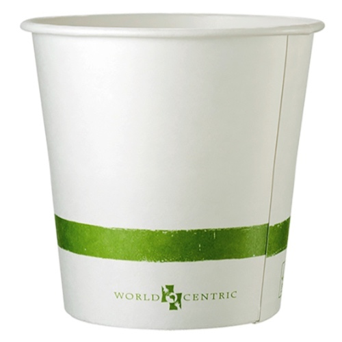 World Centric Paper White Bowl - 24 oz - BO-PA-24