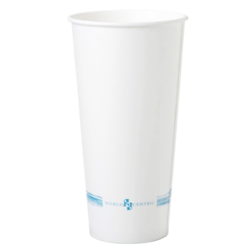 World Centric Paper White Cold Cup - 22 oz - CU-PA-22C