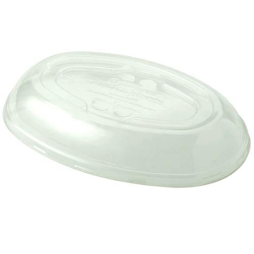 World Centric PLA Clear Dome Lid for Burrito Bowl - 32 oz - BOL-CS-UBB