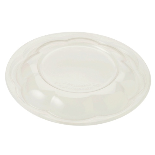 World Centric PLA Clear Dome Lid for Salad Bowl - 24-48 oz - SBL-CS-32