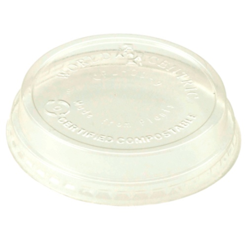 World Centric LA Clear Dome Lid for Cold Cup - 4-9 oz - CPL-CS-9