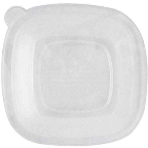 World Centric PLA Clear Flat Lid for Square Bowl - 24-48 oz - BQL-CS-24