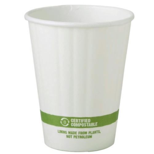 World Centric Paper White Double Wall Hot Cup - 8 oz - CU-PA-8D