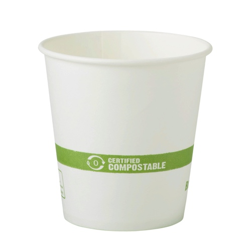 World Centric Paper White Hot Cup - 4 oz - CU-PA-4