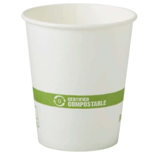 World Centric Paper White Hot Cup - 6 oz - CU-PA-6