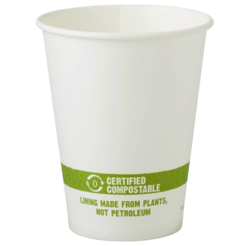 World Centric Paper White Hot Cup - 8 oz - CU-PA-8