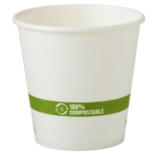 World Centric Paper White Hot Cup - 10 oz - CU-PA-10