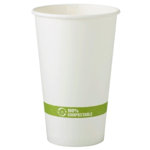 World Centric Paper White Hot Cup - 16 oz - CU-PA-16
