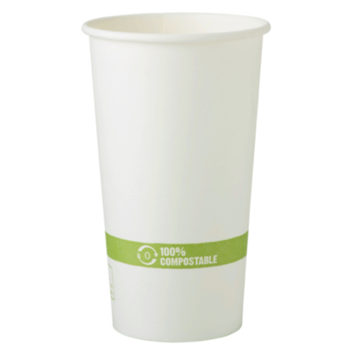 World Centric Paper White Hot Cup - 20 oz - CU-PA-20