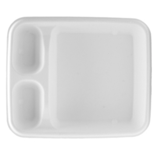 Conserveware Sugarcane Nacho Tray 3 Compartment - 7″ x 9″ - 42RCT79S3