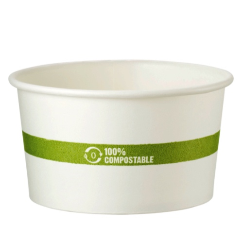 World Centric Paper White Bowl - 12 oz - BO-PA-12
