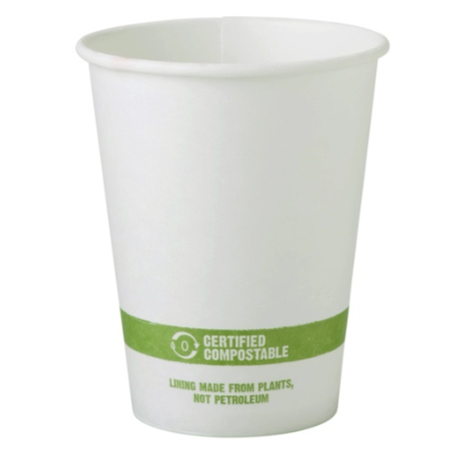 World Centric Paper White Hot Cup - 12 oz - CU-PA-12