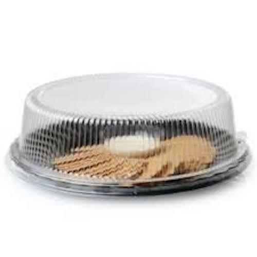 "Conserveware PETE Clear Dome Lid for Round Plate - 10"" - 9210-L"